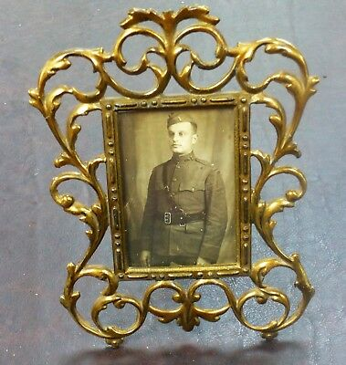 Antique French Early 20th Century Ornate Photograph Frame
