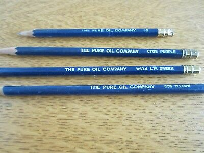 Vintage Pure Oil Pencils - Free Shipping