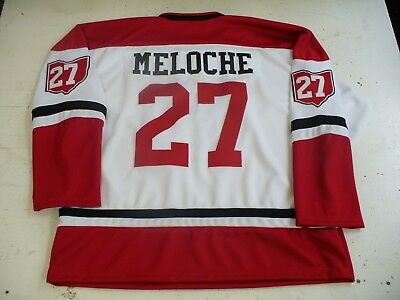 Vintage Cleveland Barons NHL Meloche #27 jersey 1977-78 blank home white