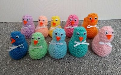 20 Hand Knitted Easter Chick Covers for Cadbury's Creme Eggs