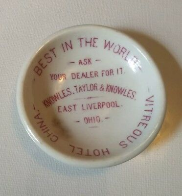 Knowles Taylor Ktk China Ohio Hotel Restaurant Ware Advertising Butter Pat