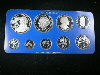 Jamaica 1976 Proof Set 9 piece with big silver coins