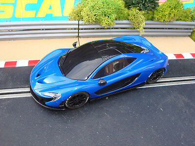 COMPLETE SCALEXTRIC BLUE McLAREN P1 - LOADS MORE CARS FOR SALE