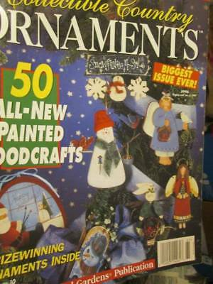 Collectible Country Ornaments 1996 Painting Magazine -50 Projects