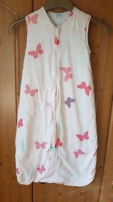 Gro Company Grobag/ Travel Baby Sleeping Bag 6-18 Months 2.5 tog butterfly pink