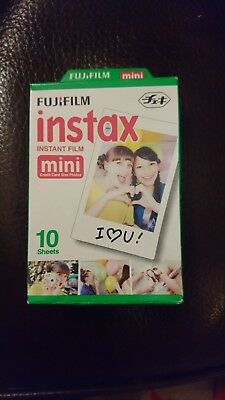 Fujifilm Instax 10 Sheets Snapshot Instant Print Shots Film Mini. Expired 2015.