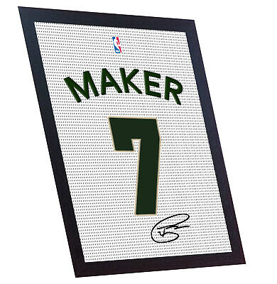 Thon Maker autograph signed printed on CANVAS 100% Cotton Framed