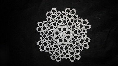 """1~4"""" White Tatted  Lace doilies ~New"""