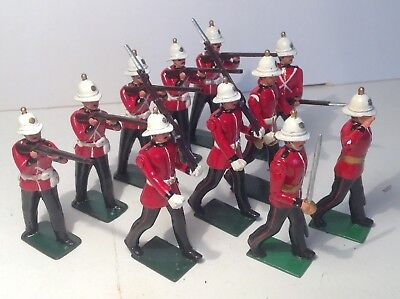 Britains modern metal 8808 The Royal Marine Light Infantry with Officers.