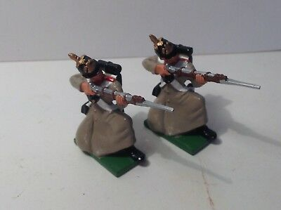 Britains modern metal Crimean War Russian Infantry firing x 2.