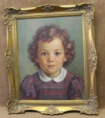 """Signed & Framed Portrait of a""""Beautiful Girl"""" - detailed Oil Painting on Canvas"""