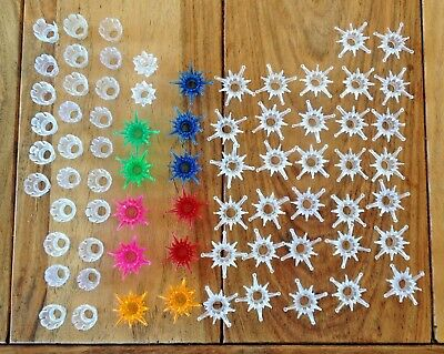 Vintage Plastic Mini Light Covers Reflectors Christmas Tree starburst (71)