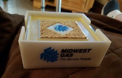 Midwest Gas Set of Coasters The Service People  Advertising