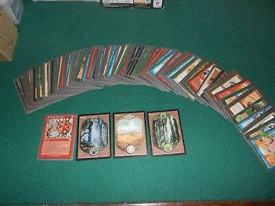 lot + 100 Carte Magic Unglued Strategy Schmategy forest ect..