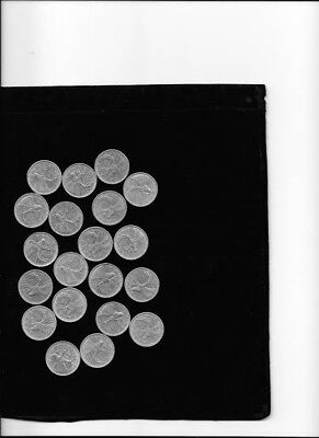 20 SILVER CANADIAN 25c COINS, Mint Condition lot 1