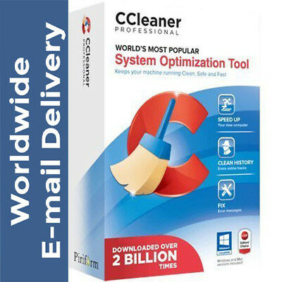 CCleaner Professional 2018 for Windows fast delivery