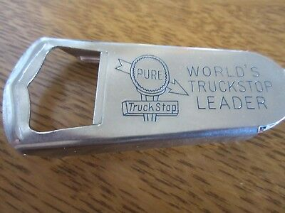 Vintage Pure Oil Bottle Opener and Matchbook - Never Used - Free Shipping