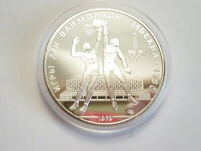 1979 Russia Proof Silver 10 Roubles - 1980 Moscow Olympics Basketball