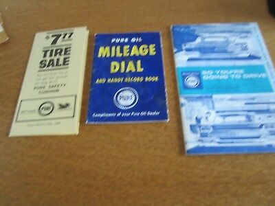 3 - Vintage Pure Oil Company Brochures -  Free Shipping