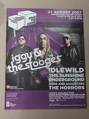IGGY AND THE STOOGES UK TOUR DATE 2007 MUSIC ADVERT POSTER CLIPPING 31 x 25 cm