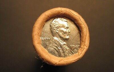 UNC Roll Lincoln Wheat Cents Uncirculated Antique Pennies -Date / Mint Unknown-