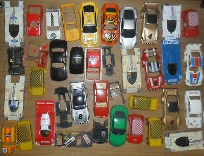 Scalextric lot of saloon / Le Mans car shells. Damage as pictured.