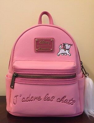 81c2c42d9b7 Loungefly Disney The Aristocats Marie I Love Cats Pink Backpack J adore  Chats