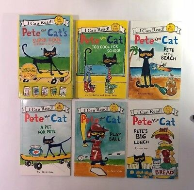 Pete Cat Childrens Kids Books Super Cool Reading My First I Can Read Lot 5