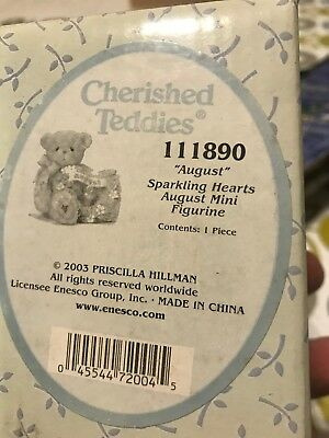 Enesco  ~ Group Lot Of 4 ~ Cherished Teddies With Hearts ~ Figurines