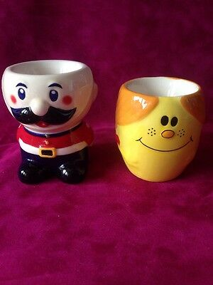 Soldier & Little Miss Happy Egg Cups
