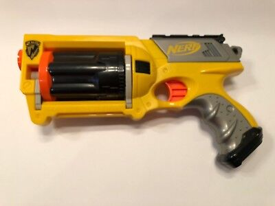 Yellow Nerf N-Strike Maverick Rev-6 Soft Foam Dart Toy Gun Dart Blaster 2004