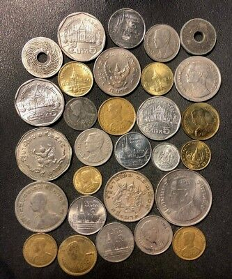 Old Thailand Coin Lot - 1927-PRESENT - 29 Great Coins - Lot #J17