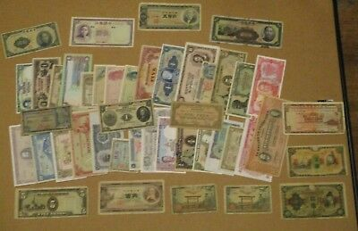 Large Lot Of Old Foreign Bank Notes,currency. China,japan And Others !!