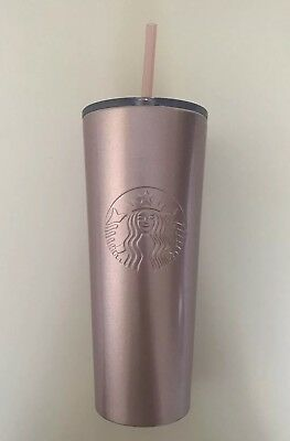 NEW 2019 STARBUCKS COLD CUP SPARKLING PINK STAINLESS STEEL TUMBLER 24 fl oz