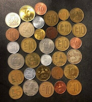 Old South Korea Coin Lot - 1959-Present - 33 Great Coins - Lot #J17