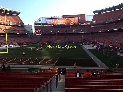 2 Tickets Miami DOLPHINS @ vs Cleveland BROWNS 11/24 FIELD Section 122 Row 13