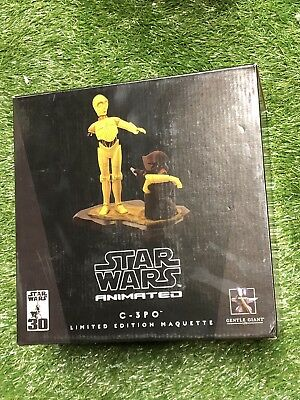 Star Wars Gentle Giant Animated C-3PO And Jawa Maquette Statue 1703/4500