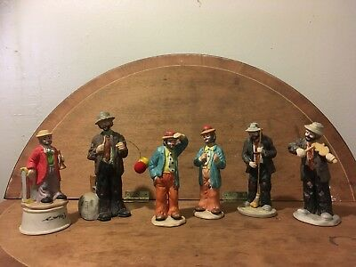 Emmett Kelly Jr. Figurines, Two Are Working Music Boxes