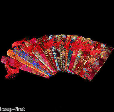 Wholesale 10 Pcs Chinese Handmade Mix-Color Silk Embroid Fan Covers/bags
