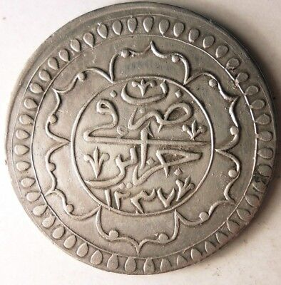 1822 ALGERIA 2 BUDJU - High Grade Silver Crown Coin - HUGE VALUE RARE - Lot #J17