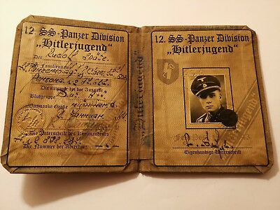 German wwii Panzer div. H.J. Document