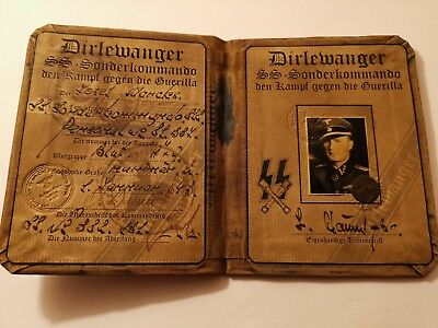 German elite wwii Dirlewanger document