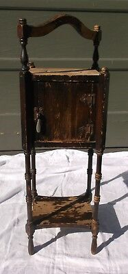 "VINTAGE PIPE/CIGAR/SMOKING STAND/CABINET/TABLE, WOOD, by ""IDEAL 1926 Patented"""