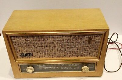 Zenith Tube Radio Mid-Century 1957 Model A730E Tested Works!