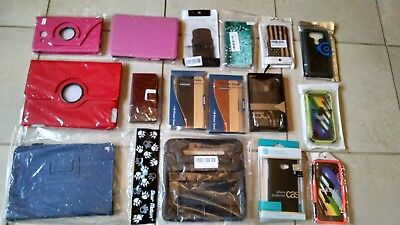 Lot of 15 Assorted Cell Phone and Tablet Cases_New in Factory Sealed Packages