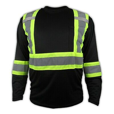 Black High Visibility Safety Shirt / Class 3 - Level 2