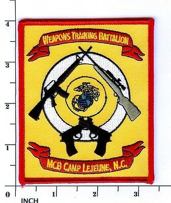 USMC Weapons Training Battalion PATCH ! Weps Trng Bn MCB Camp Lejeune NC Marines