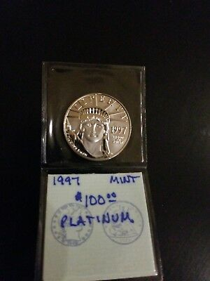 1997 Statue of Liberty $100 Platinum American Eagle 1 oz Coin