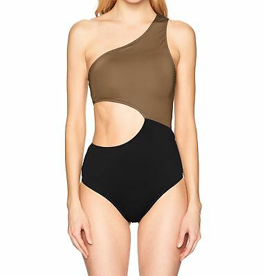 4088b7b08df29 Jessica Simpson NEW Brown Women Small S Cut-Out One-Piece Swimsuit  98 606