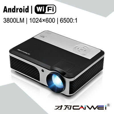 Android Projector WiFi Wireless Bluetooth Full HD 1080P Home Theater Projectors